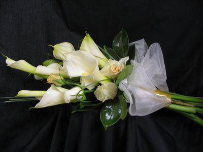 White Arum Lillies and Roses